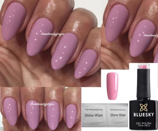 Bluesky A91 Pale Lilac Pink Light Mauve Nail GEL Polish UV LED Soak ...