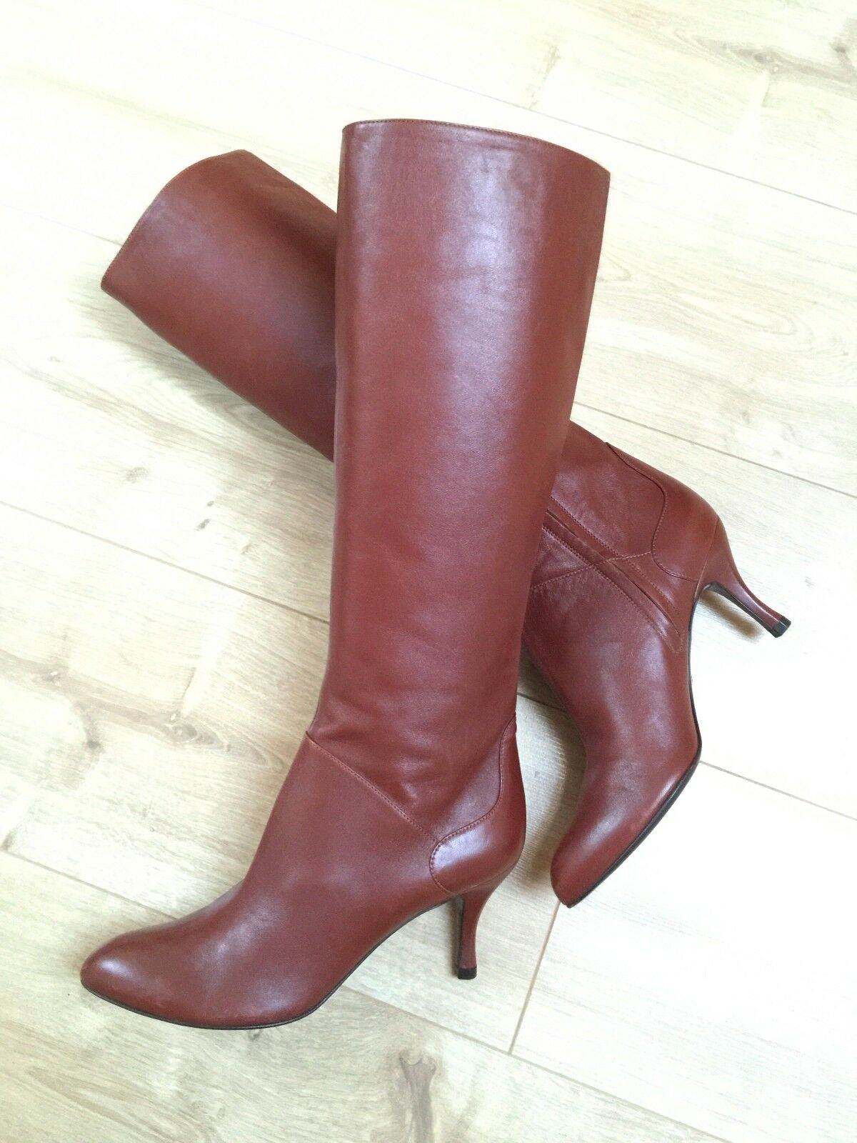 Bally brown leather zip boots EU37, US 6.5