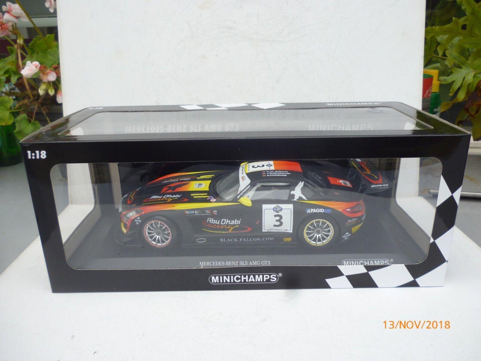 MINICHAMPS - 1 18 - MERCEDES-BENZ SLS AMG GT3 - WINNER GULF  ABU DHABINEW OVP