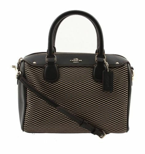 New Coach Mini Bennett Satchel in Limited Collection Leather Jacquard F57242 Bag