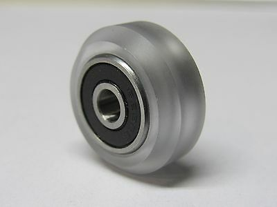Polycarbonate Solid V Wheel Kit (4 pack) - 20mm linear rail, CNC, 3D printers