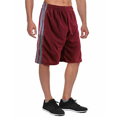 Men's Athletic Mesh Workout Fitness Training Basketball Sports Gym Shorts