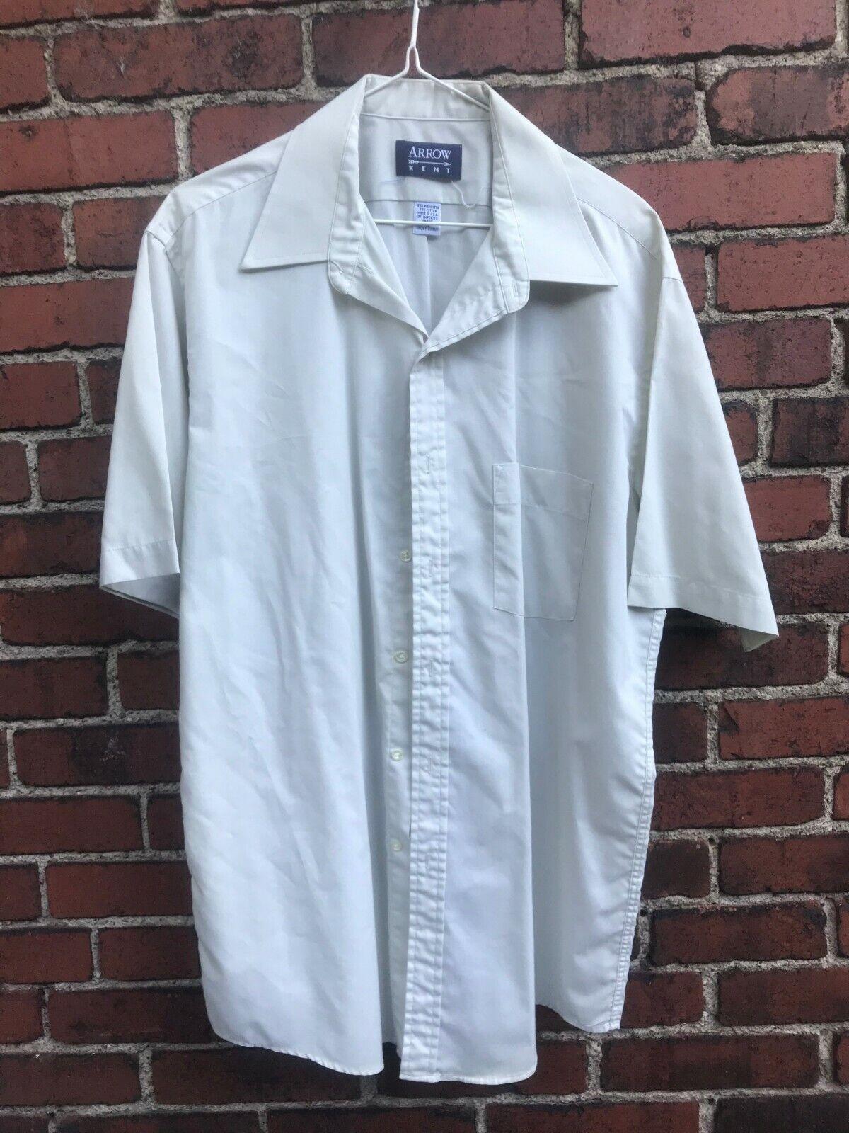15 33 medium Deadstock Vintage Long Sleeve Shirt 60s Dress Shirt Vintage Mens Clothing Arrow Dectolene Made in USA