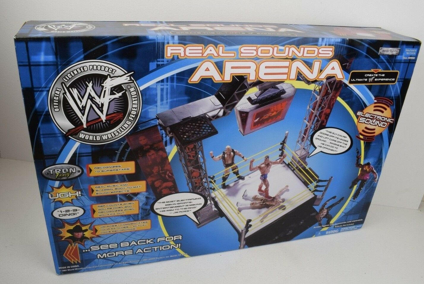 WWF Real Sounds Arena Jakks 2001 FACTORY SEALED UNOPENED HIGHLY COLLECTABLE