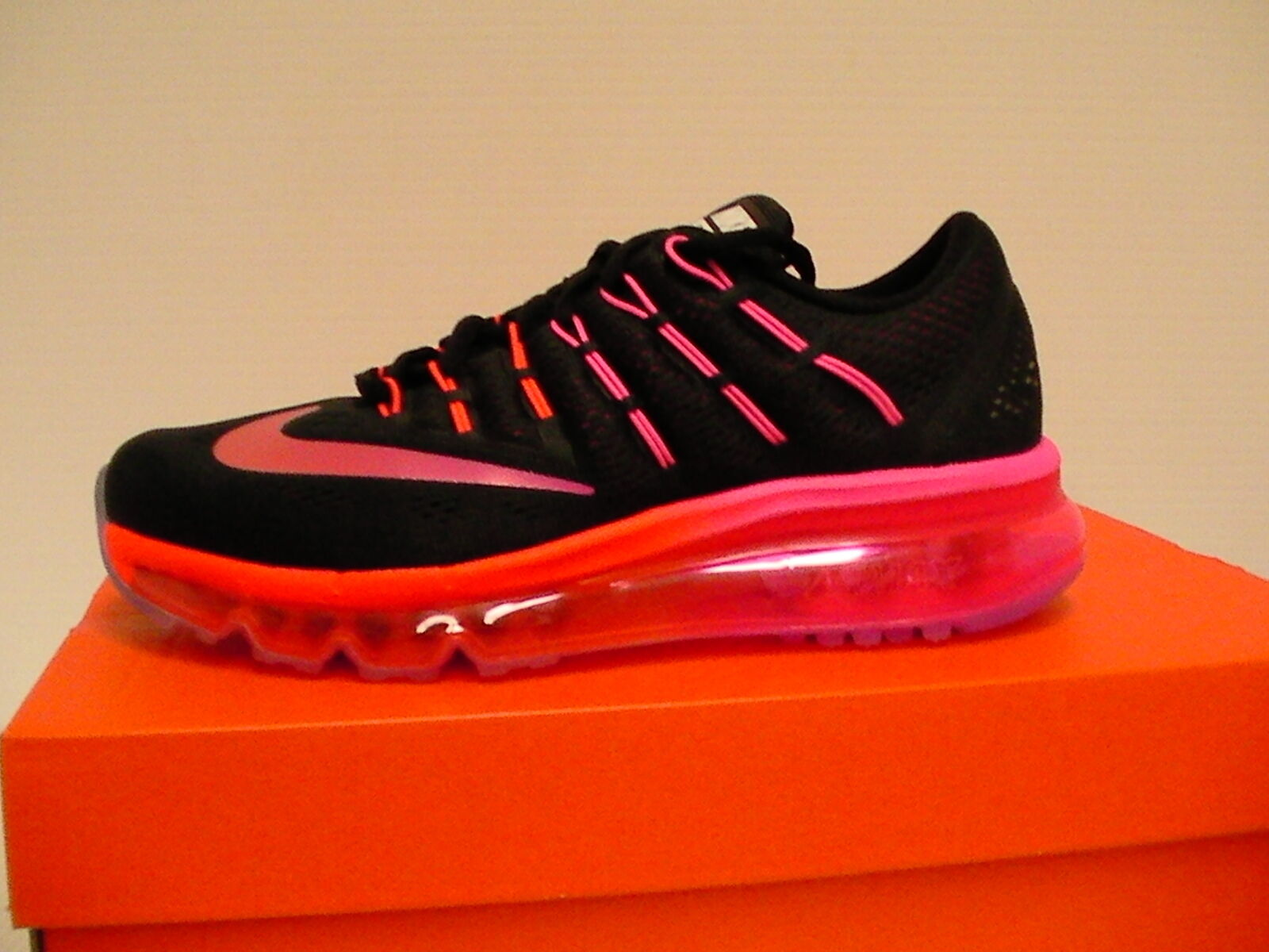 Women's nike air max 2016 running shoes black red bright many sizes