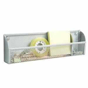 Metal-Magnetic-Storage-Container-Home-Office-Supplies-Organizer-Basket-Silver