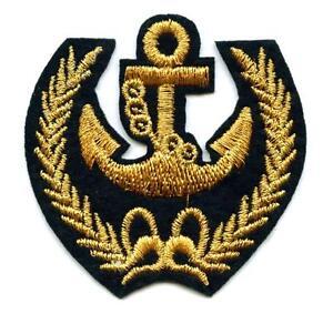 Modele statków Aufnäher Anker  Patch Anchor Segeln Marine Seefahrt Segeln Antyki i Sztuka