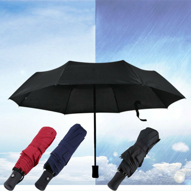 Fashionable Fully-Automatic Three Folding Business Solid Sunshade Umbrella GM