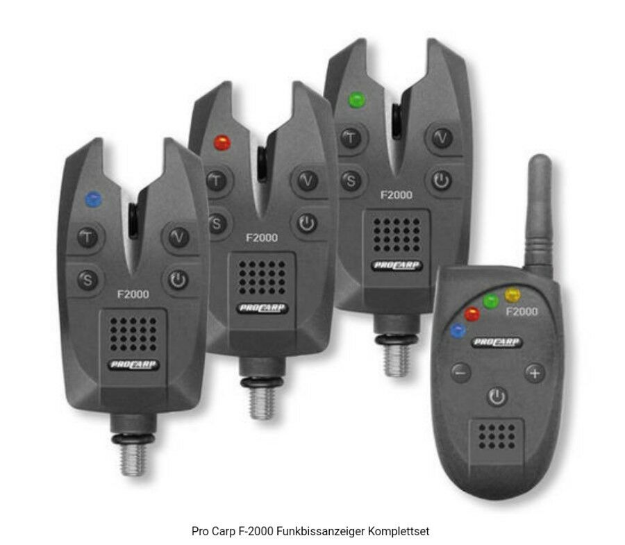 PRO 3 CARP F 2000 Funkbissanzeiger Set 3 PRO + 1 Funk Bite Indicator Cormoran b20868
