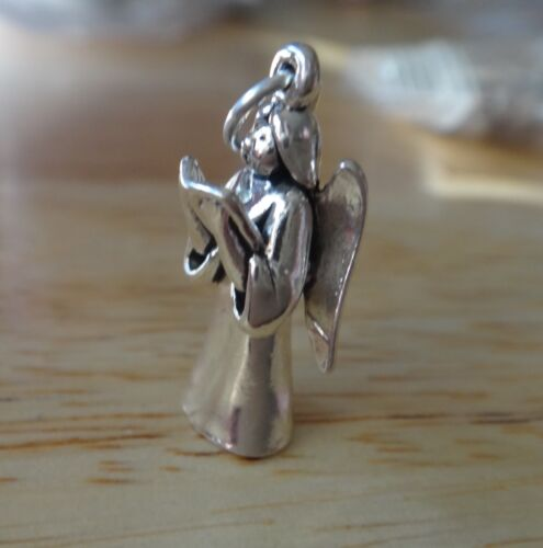 1 Sterling Silver 3D 21x10mm Angel with Song Choir Book Charm!