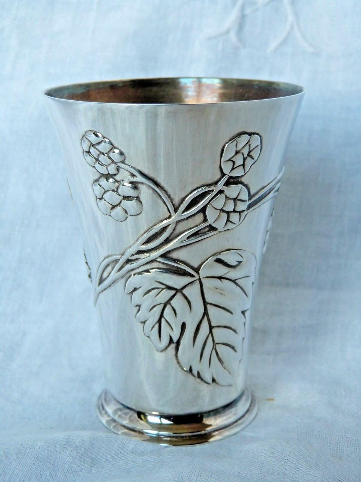 stile classico CHRISTOFLE  timbale ou gobelet style art nouveau nouveau nouveau  design unico