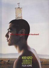 Kenzo Jungle Pour Homme 1998 Magazine Advert #1960