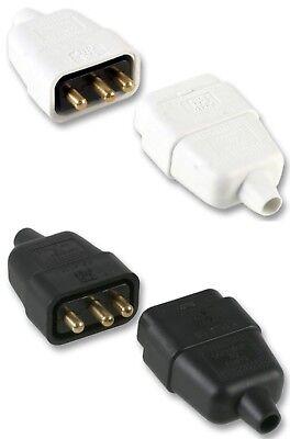 Obligatorisch 3 Pin 10 Amp In-line Mains Electric Cable Connector Plug Socket Joiner In Line Jahre Lang StöRungsfreien Service GewäHrleisten