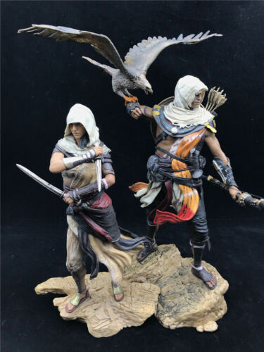 Assassin/'s Creed Origins Bayek Aya Statue Figure PVC Collectable Toys Model