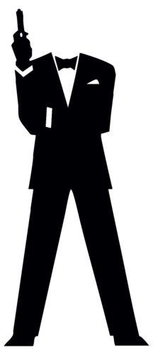 James Bond 007 MAC MACBOOK APPLE iPad Laptop Sticker Vinyl Decal colore personalizzato.