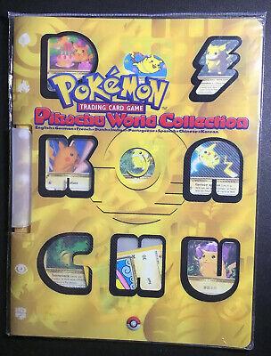 Pokemon TCG Birthday Pikachu Sealed 2000 Pikachu World Collection Promo Binder