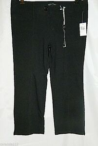 Buffalo David Bitton Pants Cropped Capri Black Stretch Capris size 29