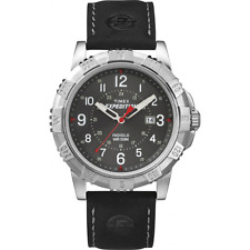 Timex Expedition Rugged Metal Watch  Black Leather Strap  T49988   LAST THREE