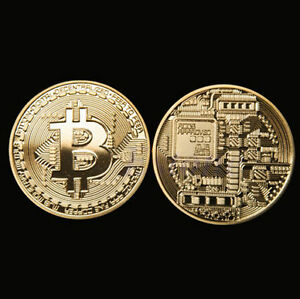 Gold Plated Physical Bitcoin Casascius Bit Coin Btc W