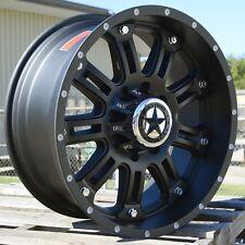 "20"" Matte Black Lonestar Ambush Wheels 20x9 Inch 8x165.1 Chevy Ford Dodge truck"