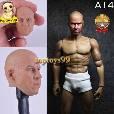 VERY HOT Custom Male Dominic Vin Diesel Head Sculpt 1//6 Fit 12/'/'Phicen Body A-14
