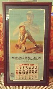 1951-Brown-Bigelow-Baseball-HOF-Calendar-LOU-GEHRIG-Yankees-16x33-034-Medcalf