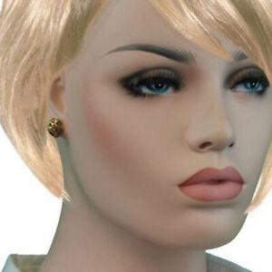 Black-Unicorn-Gold-Tone-Cloisonne-Pierced-Stud-Earrings