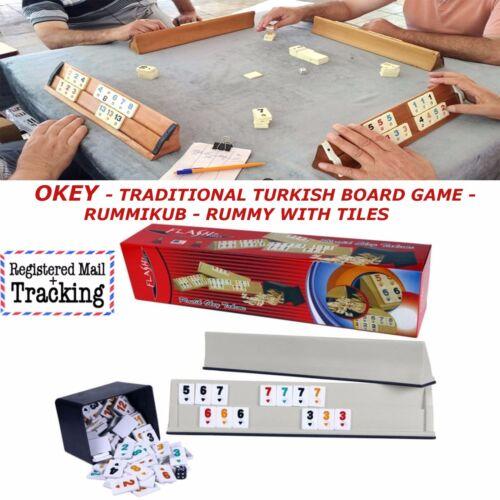 RUMMY WITH TILES REMI CUP OKEY TRADITIONAL TURKISH BOARD GAME RUMMI KUB