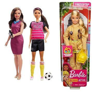 Barbie Careers 60th Anniversary Soccer Player Doll Mattel GFX26