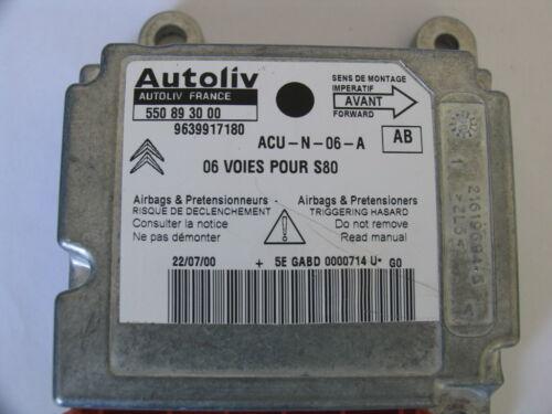 Citroen C2 C3 C4 C5 C8 Xantia Xsara Saxo Airbag Steuergeräte Reparatur +++ ++