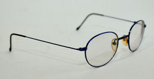 Red-Rose-Italy-RR-122-Blue-Metal-Wire-Eyeglasses-Frame-46-20-140-Col-456-Aviator