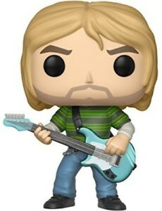 FUNKO-POP-ROCKS-Kurt-Cobain-Striped-Shirt-New-Toy-Vinyl-Figure