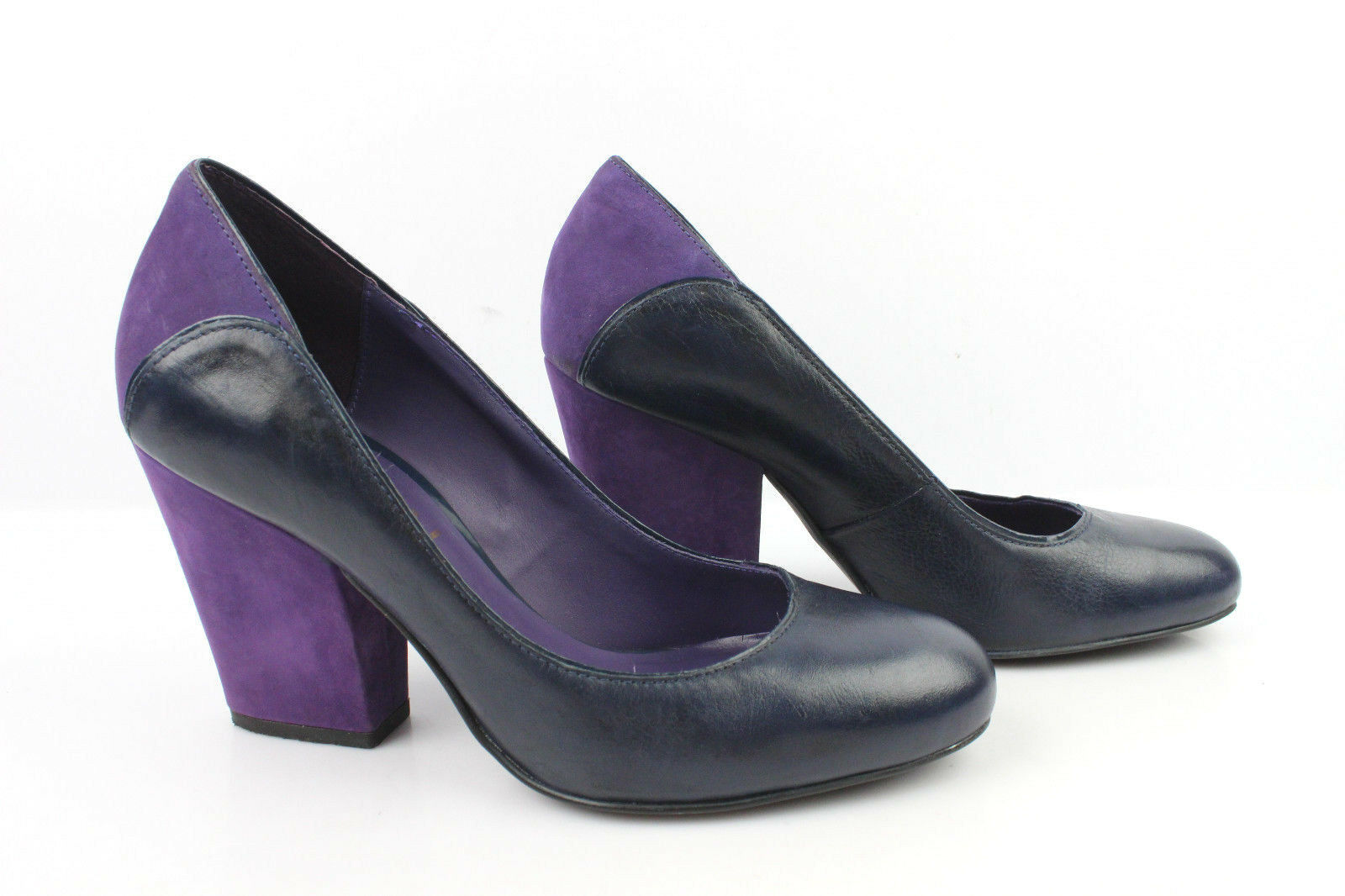Court shoes KOOKAI Leather Navy bluee and suede Purple T 38 VERY GOOD CONDITION