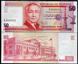 2012 P-193d Unc Philippines 50 Piso