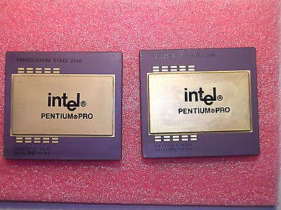 LOT INTEL PENTIUM PRO KB80521EX200 SY032 256Ko (X2)