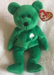 Ty Beanie Babies Rare  Erin  Irish Bear (misprinted   Numbered)  dc4660e910d