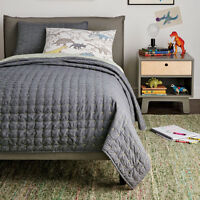 Nip Dwell Studio Dwellstudio Full Theo Quilt Sham Set Gray Bedding $249