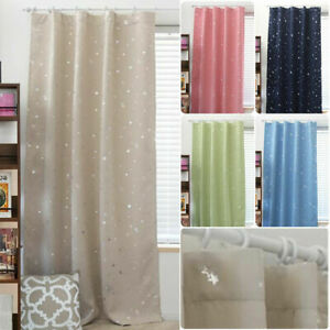 Modern Star Blackout Window Room Curtains Thermal Insulated For Kids Bedroom Uk Ebay