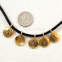 Delta Greek Letter Charm, Tierracast Antiqued Gold Plated, 5 Pcs, 8126