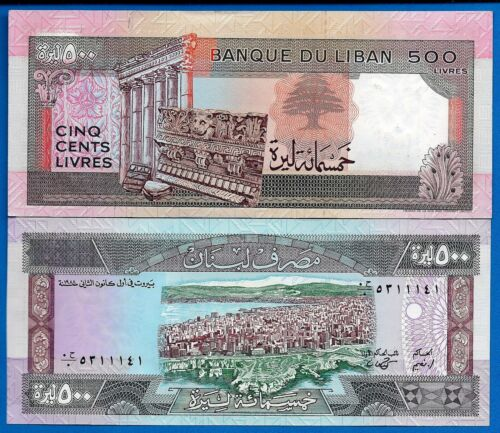 Lebanon P-68 500 Livres Year 1988 Uncirculated Banknote