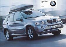 BMW X5 ZUBEHÖR E53 Prospekt mit Preisliste 2001 ++++++++++++++++++++++++++++++++