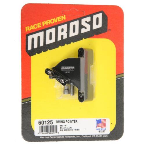 """Moroso 60125 BILLET TIMING POINTER SBC Small Block Chevy 8/"""" Balancer"""