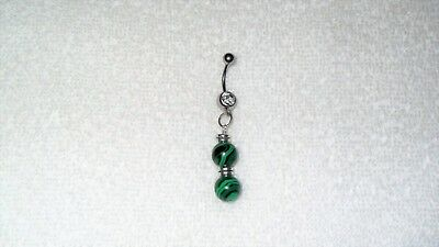 belly button jewelry malachite belly ring,nature malachite stone belly button ring,girlfriend gift