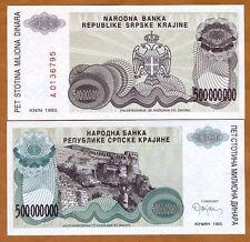 Croatia, 500,000,0000 (500 million) Dinara 1993 R26 UNC
