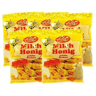5x 100g 1,59EUR/100g Milch Honig Bonbons (5x100g) Honigbonbons