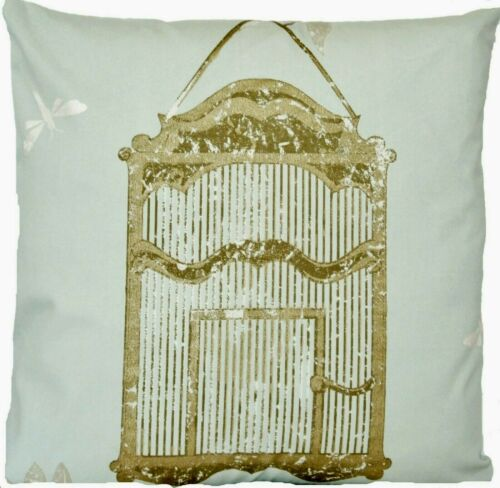 """Bird Cage Cushion Cover Dragonfly Nina Campbell Blue Gold 16/"""" SALE CLEARANCE"""
