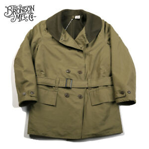Bronson-WW2-Mackinaw-Parka-Vintage-Men-039-s-Woolen-Lined-Jeep-Coat-Military-Uniform