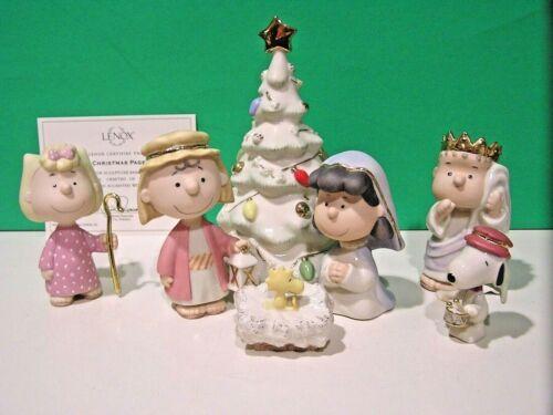 LENOX The CHRISTMAS PAGEANT Nativity set Snoopy Peanuts NEW in BOX with COA