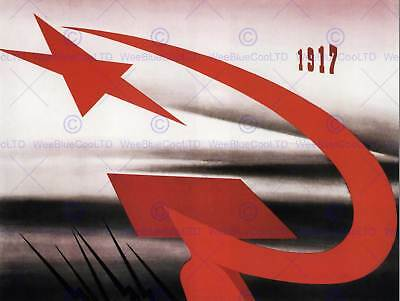 PROPAGANDA RUSSIAN REVOLUTION COMMUNISM POSTER ART PRINT 30X40 CM BB2707B