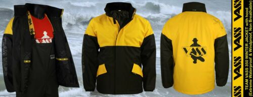Black /& Yellow TEAM VASS NEW 350 WINTER JACKET Modern Sports Oil Skin